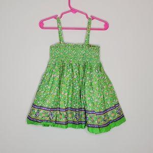 POLO Ralph Lauren Smocked Sun Dress Green Floral 2